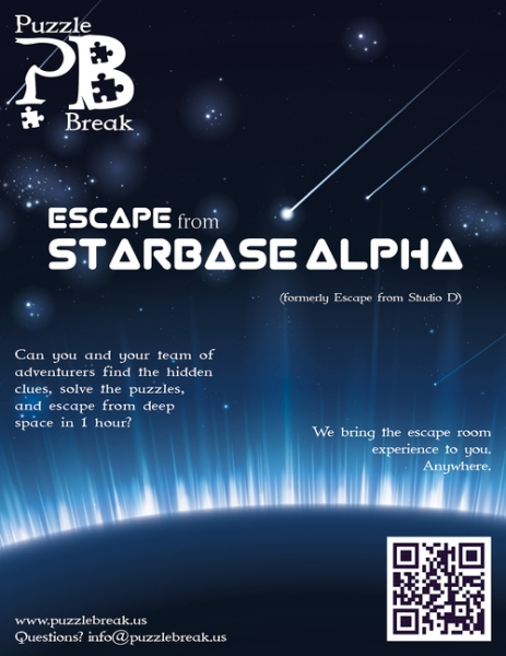 LARP-game Escape from Starbase Alpha, Puzzle Break. San Francisco.