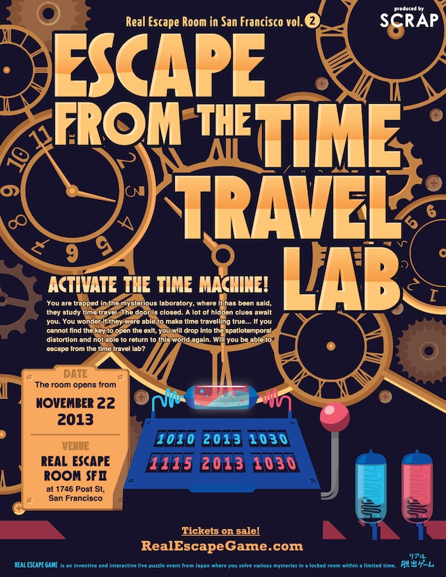 Escape Game Escape from the Time Travel Lab, SCRAP. San Francisco.