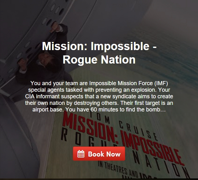 Escape Game Mission: Impossible - Rogue Nation, South Beach Room Escape. Miami.