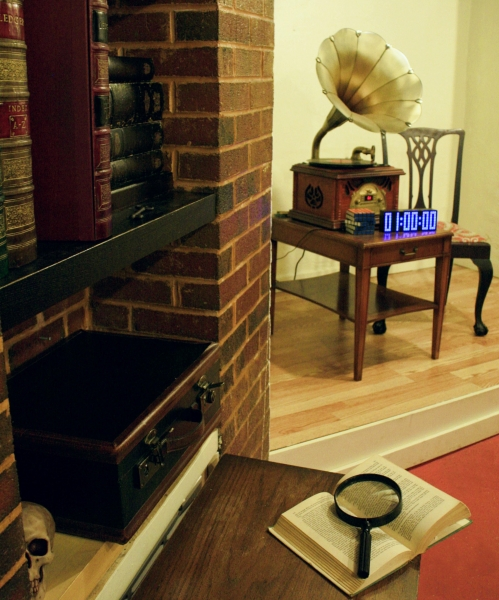 "Escape Game The Library/Sherlock""s Study, The Great Escape Room. Orlando."