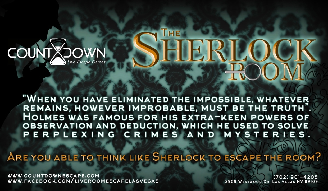 Escape Game The Sherlock, Countdown Live Escape Games. Las Vegas.